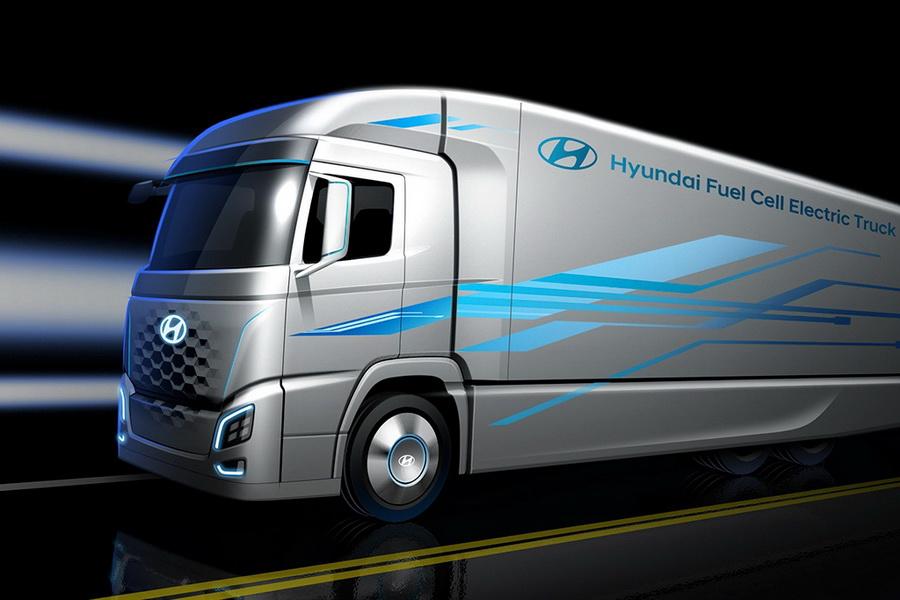 现代氢燃料电池概念卡车概念图曝光 或本月亮相