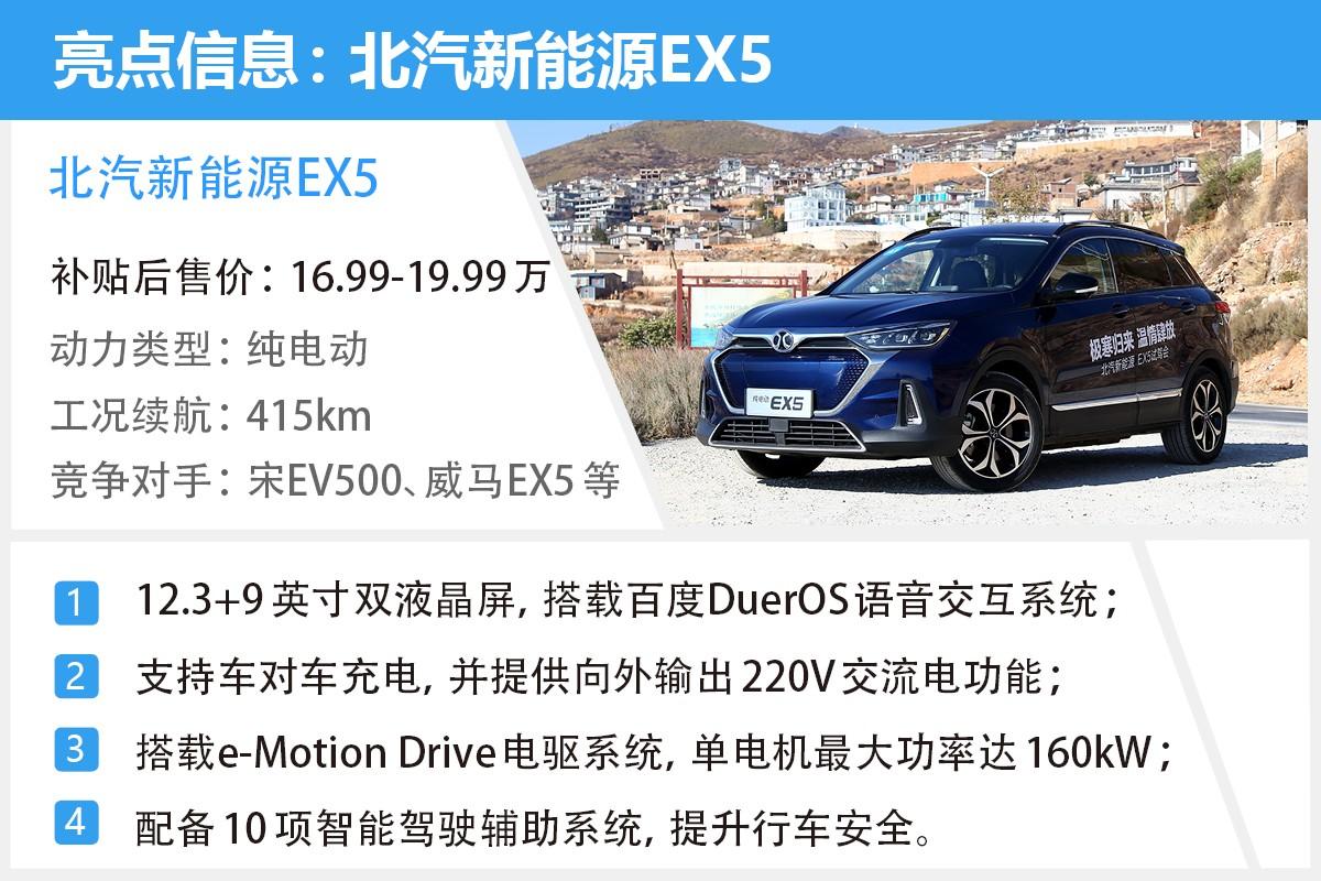 首推悦尚版 低配足够用 北汽新能源EX5购车手册