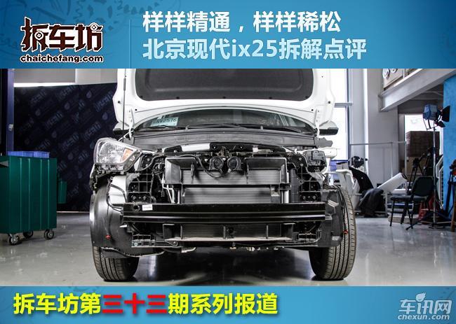 拆车坊第三十三期 北京现代ix25拆解点评
