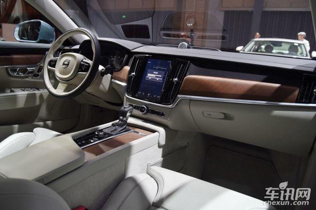 国产沃尔沃S90长轴距版内饰-曝国产沃尔沃S90长轴距版动力 搭2.0T引高清图片