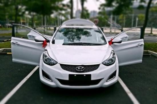 北京现代朗动的车窗整体采用了柳叶