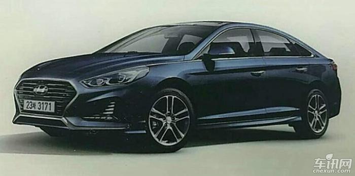 索纳塔改款车型疑似曝光 或3月底正式发布