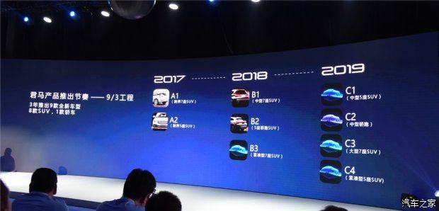 君马品牌正式发布 首款SUV车型或11月上市