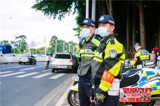 全国高考日广东交警护考行动旗开得胜