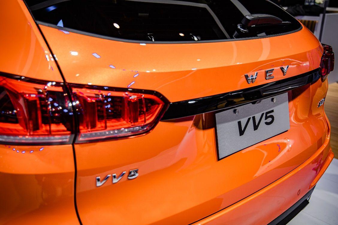 出街即焦点,2021款VV5元气橙北京车展正式亮相!